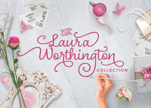 The Laura Worthington Collection – 20 Fonts 91% off!