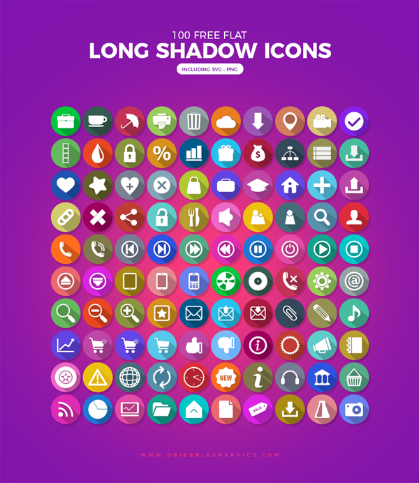 100-Free-Flat-Long-Shadow-Icons-with-Vector,-SVG-and-PNG-Formats