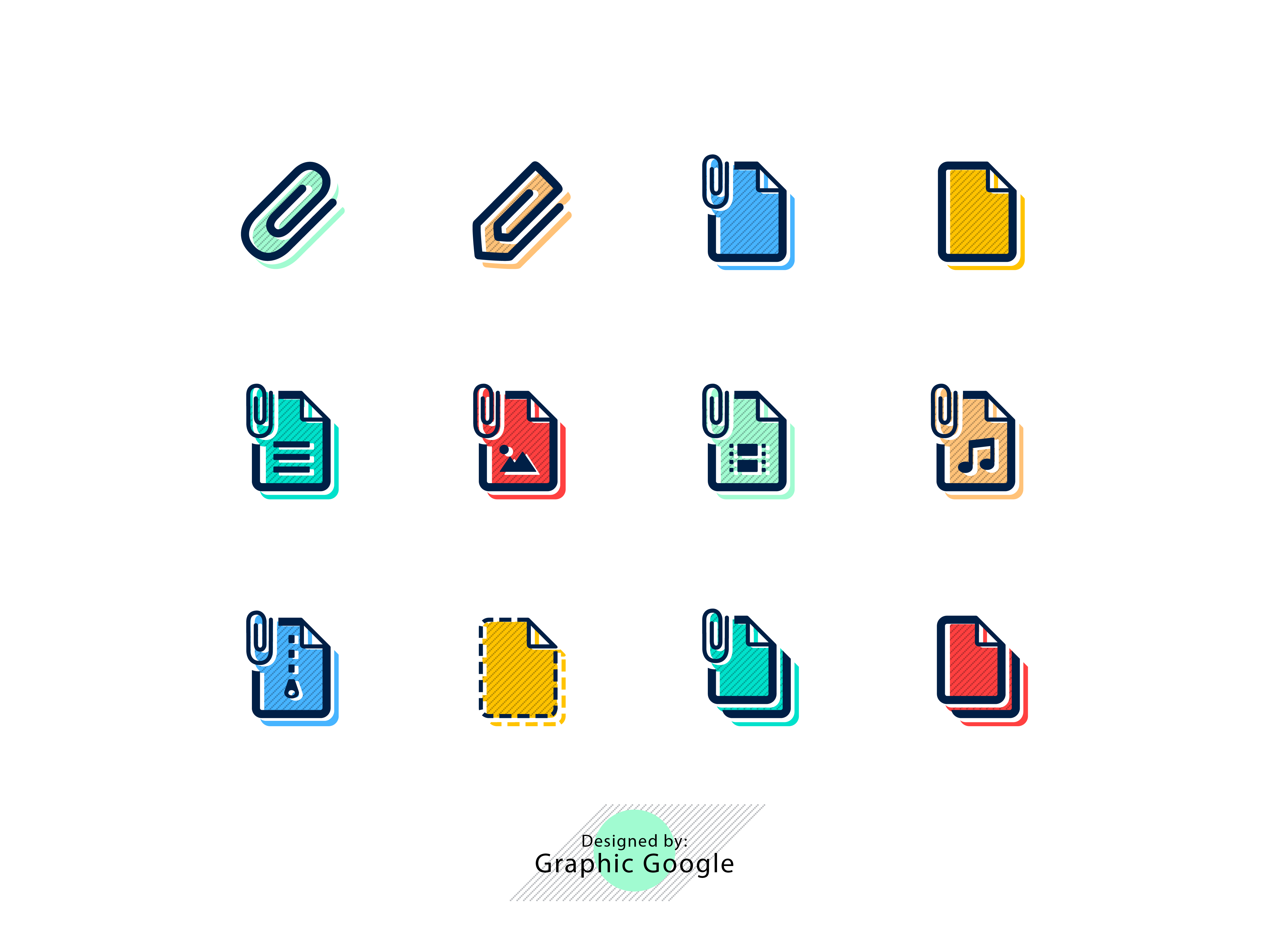 12 Free File Attachment Icons