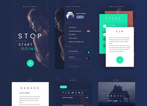 20 Free Useful & Professional Mobile UI Kits 2017 You Would Love To Download