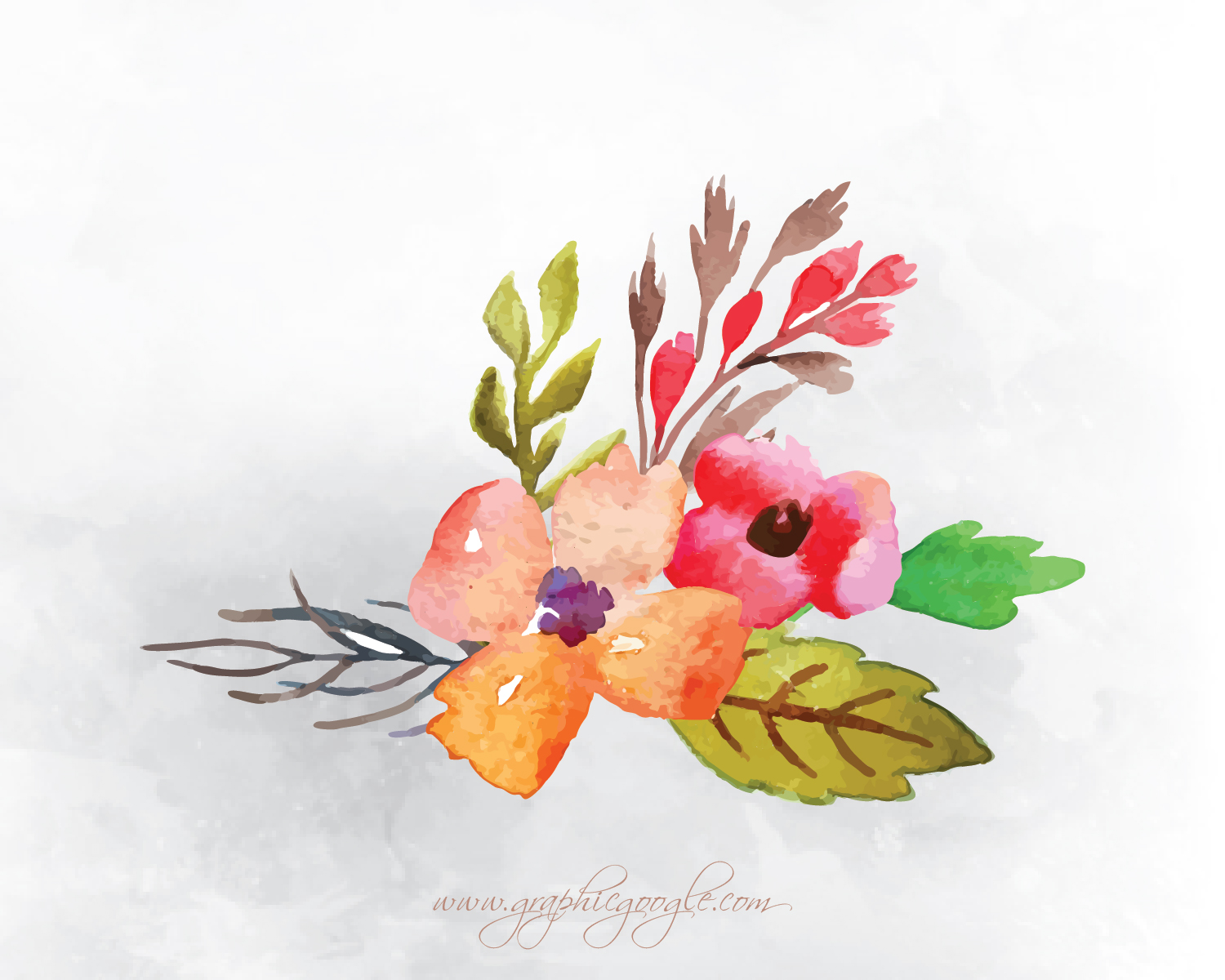 9 Free Watercolor Flower Vectors For Designers-01