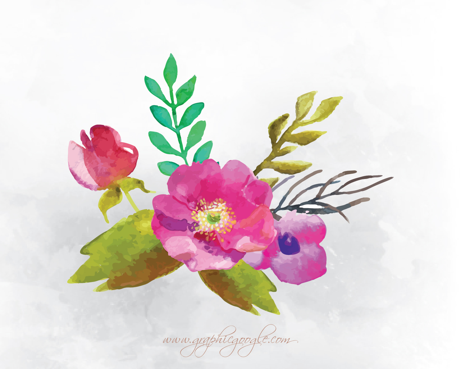 9 Free Watercolor Flower Vectors For Designers-02