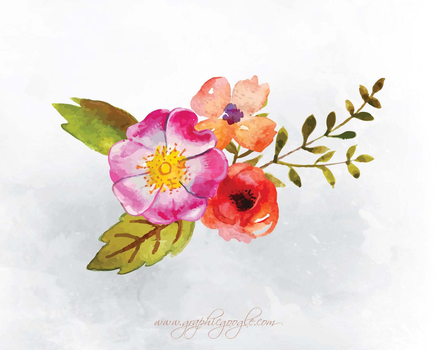 9 Free Watercolor Flower Vectors For Designers-03
