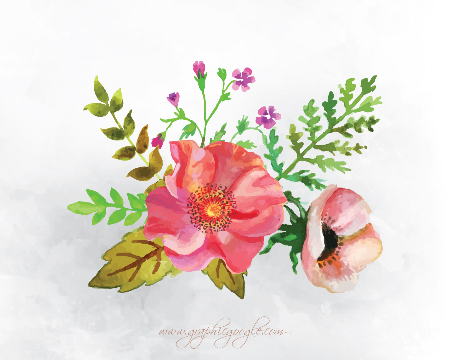 9 Free Watercolor Flower Vectors For Designers-04