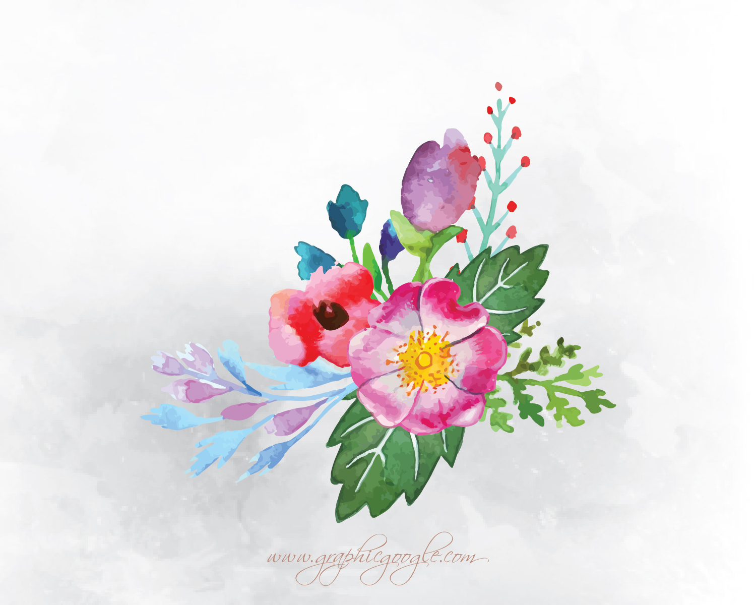 9 free watercolor flower vectors for designersgraphic