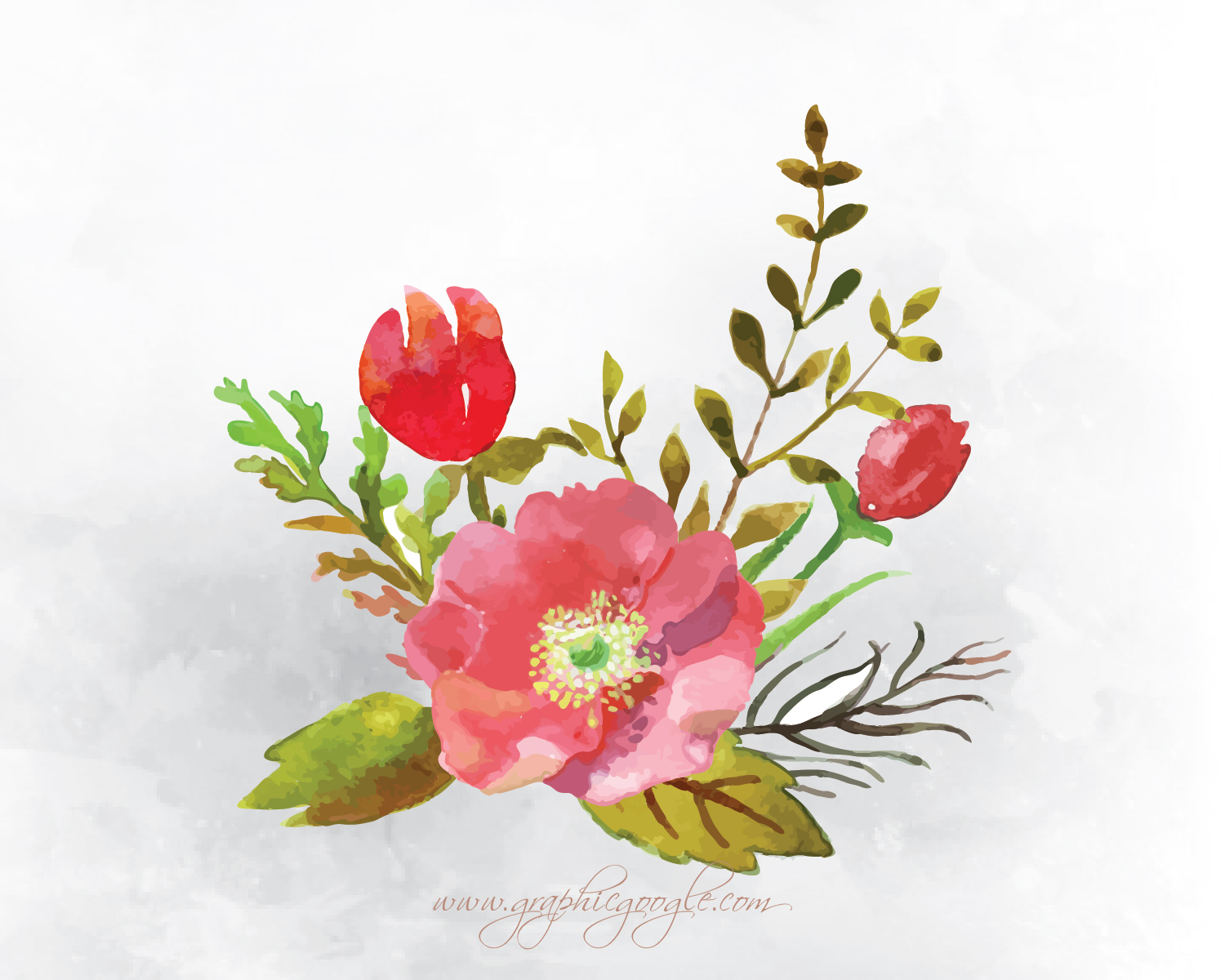 9 Free Watercolor Flower Vectors For Designers-06