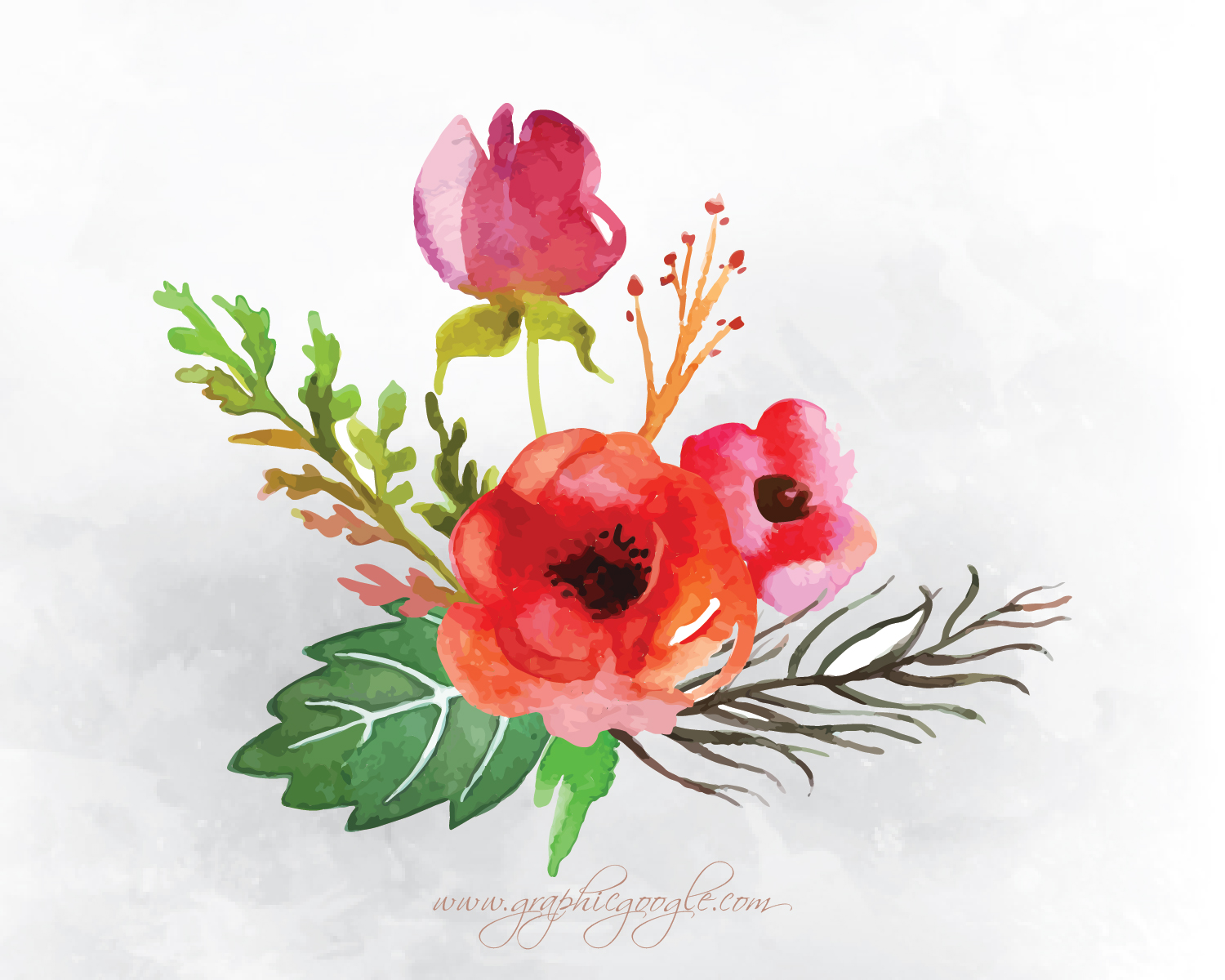 9 Free Watercolor Flower Vectors For Designers-07 - Graphic Google ...