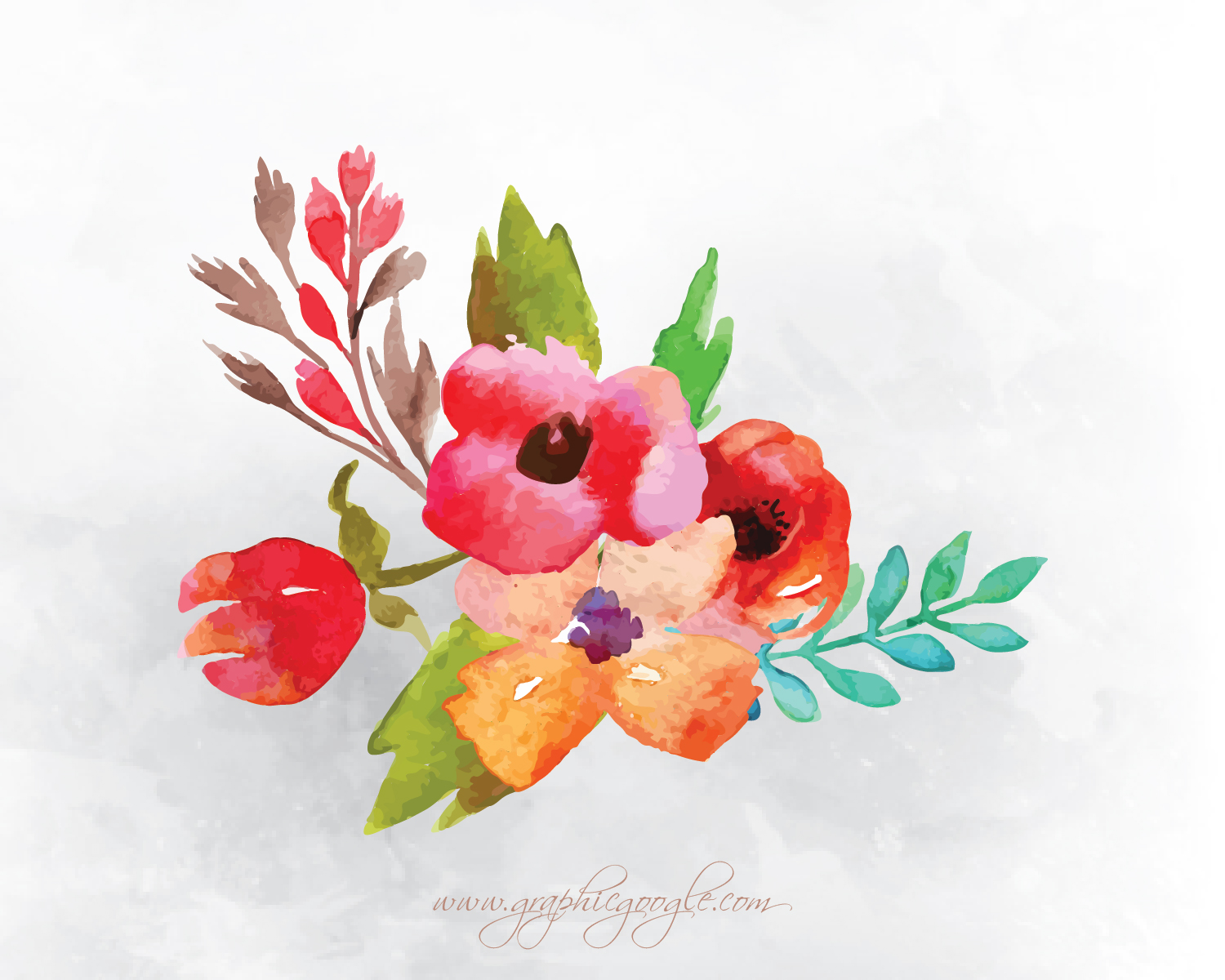 9 Free Watercolor Flower Vectors For Designers-08