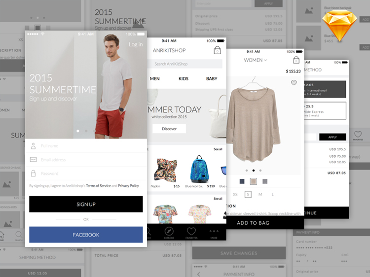 Anri-Mobile-eCommerce-Free-App-UI-Kit-&-Wireframing