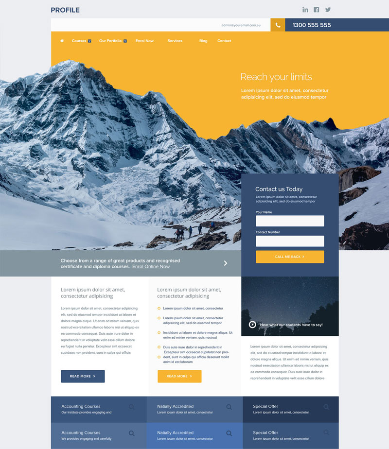 Download-Personal-Profile-website-Free-PSD-Template