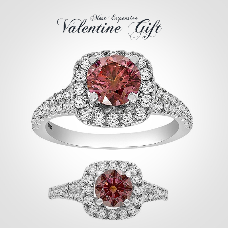 Fabulous-1.78-Carat-Round-Brilliant-Cut-Real-Pink-Diamond-with-Side-Diamond-Engagement-Ring,-14k-White-Gold