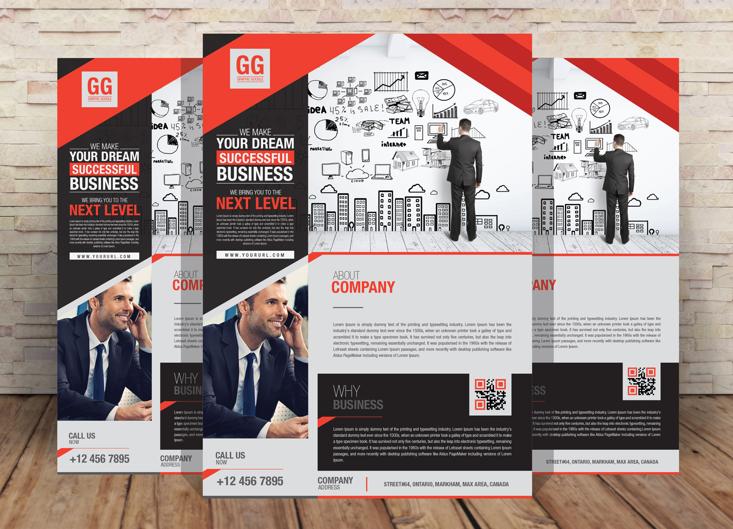 Free business flyer design template for your corporate business in 2017 free business flyer design template accmission