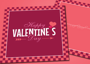 Free Happy Valentine's Day Greeting Card Design Template