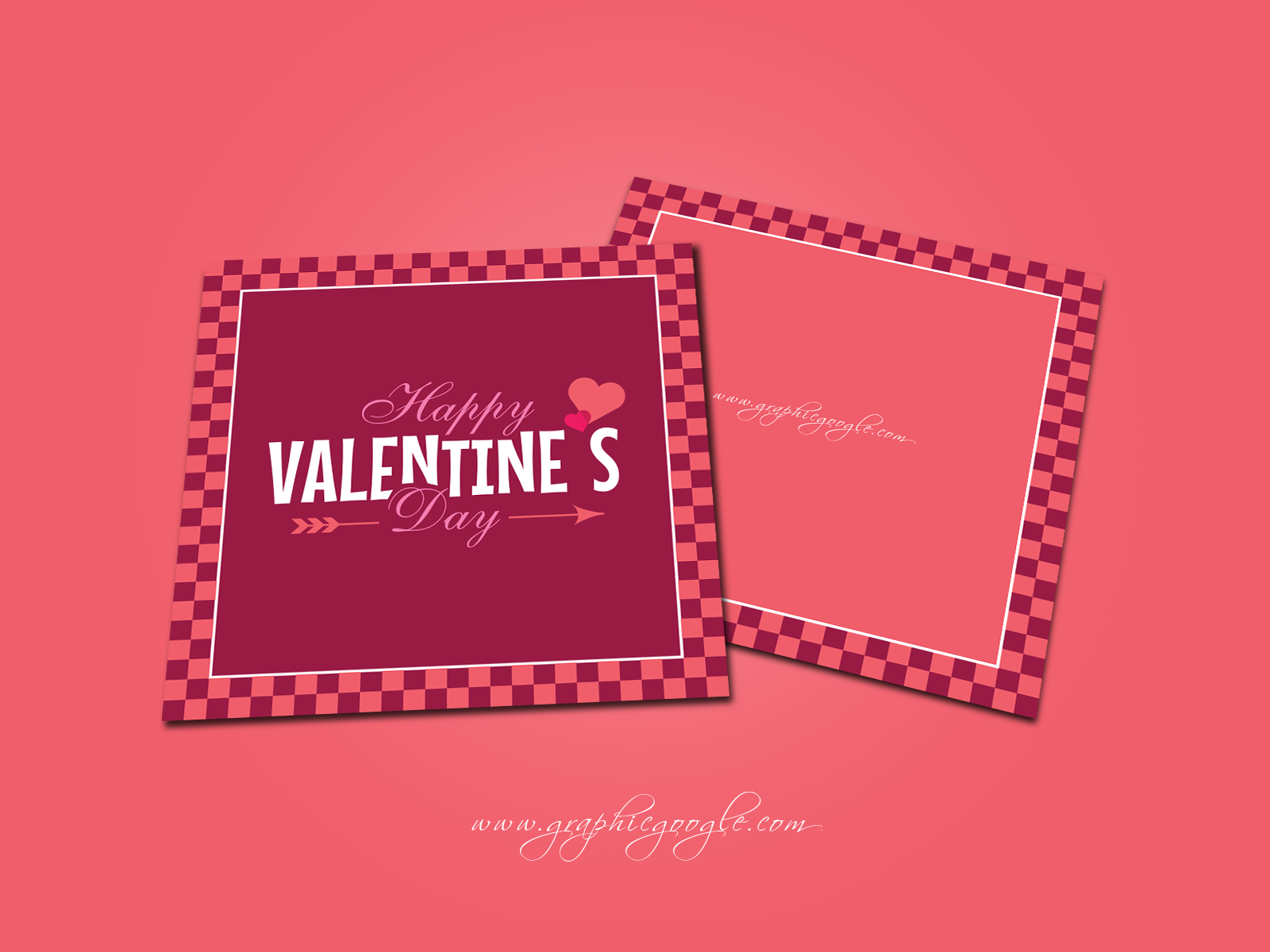 Free Happy Valentines Day Greeting Card Design Template