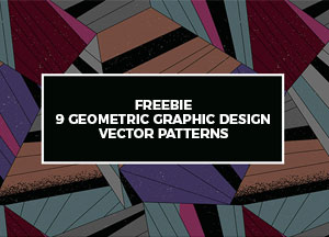 Freebie 9 Geometric Graphic Design Vector Patterns
