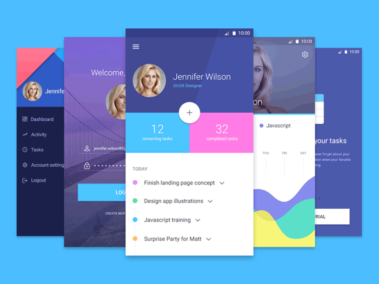 Mobile-App-Material-Free-UI-Screens-Templates