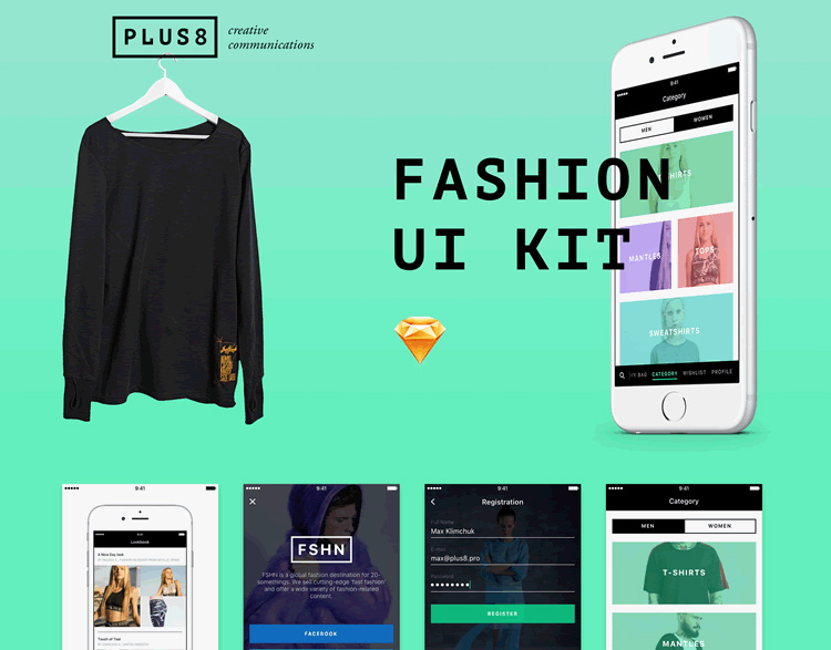 Mobile-Fashion-&-eCommerce-Free-UI-Kit