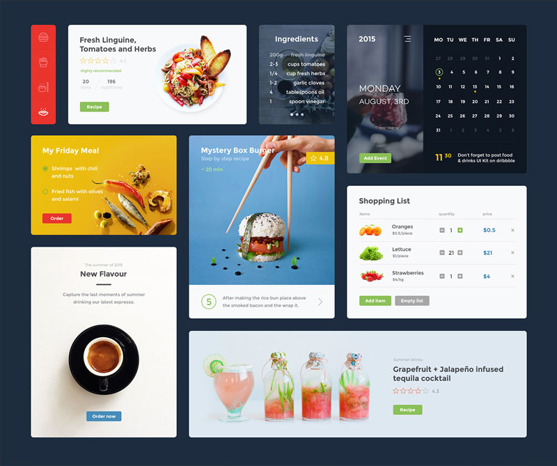 Food-&-Drink-UI-KIT-Free-Sketch-&-Psd
