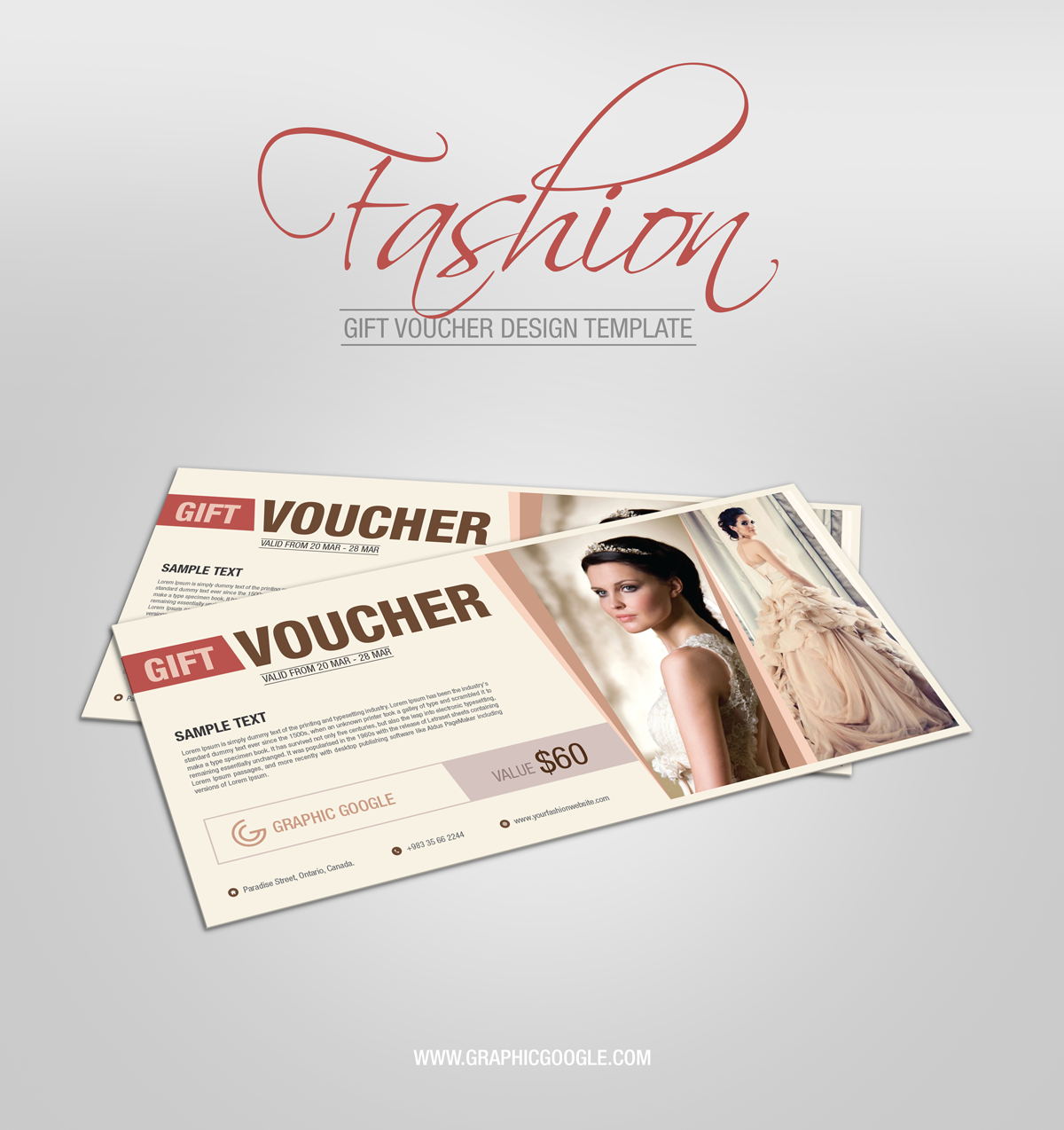 Graphic Google  Free Voucher Design Template