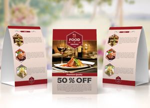 Free Restaurant Table Tent Template