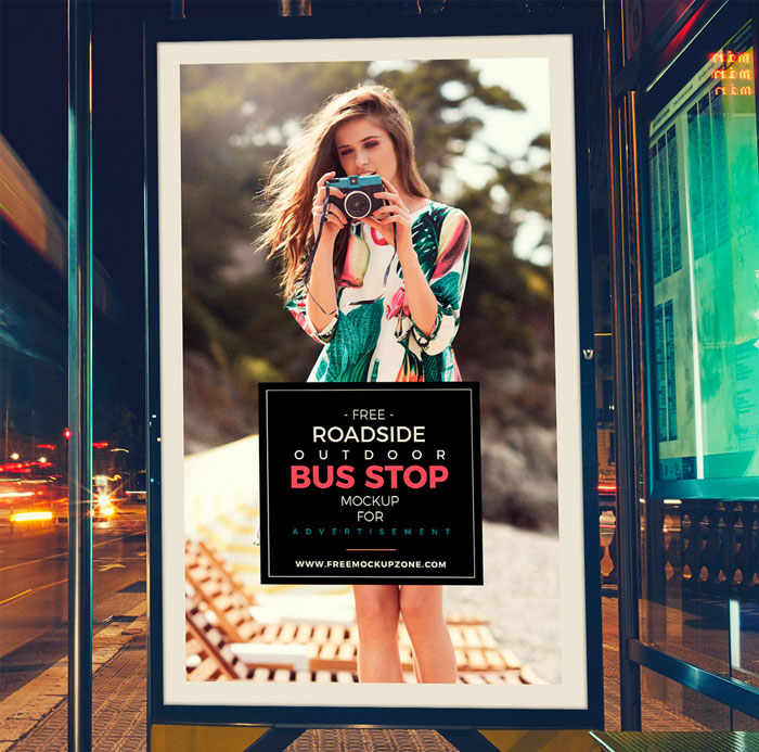 Free-Roadside-Outdoor-Bus-Stop-Billboard-Mock-Up-For-Advertisement