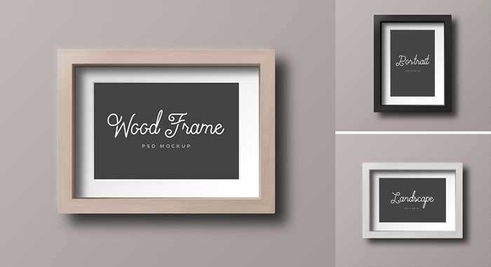 Free-Wood-Photo-Frames-Mockups