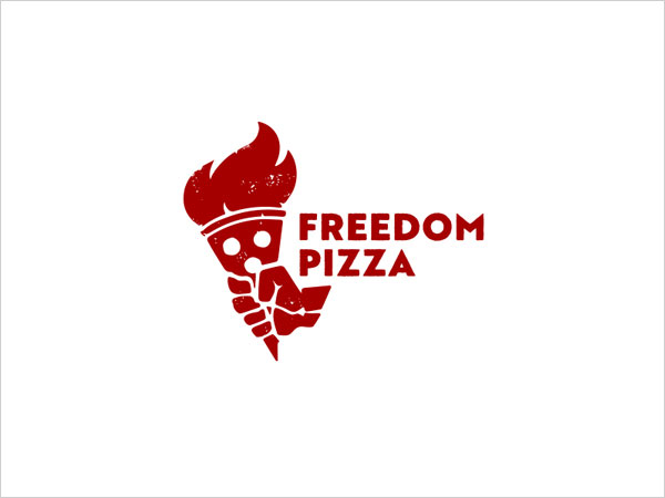 Freedom-Pizza-Logo-Design