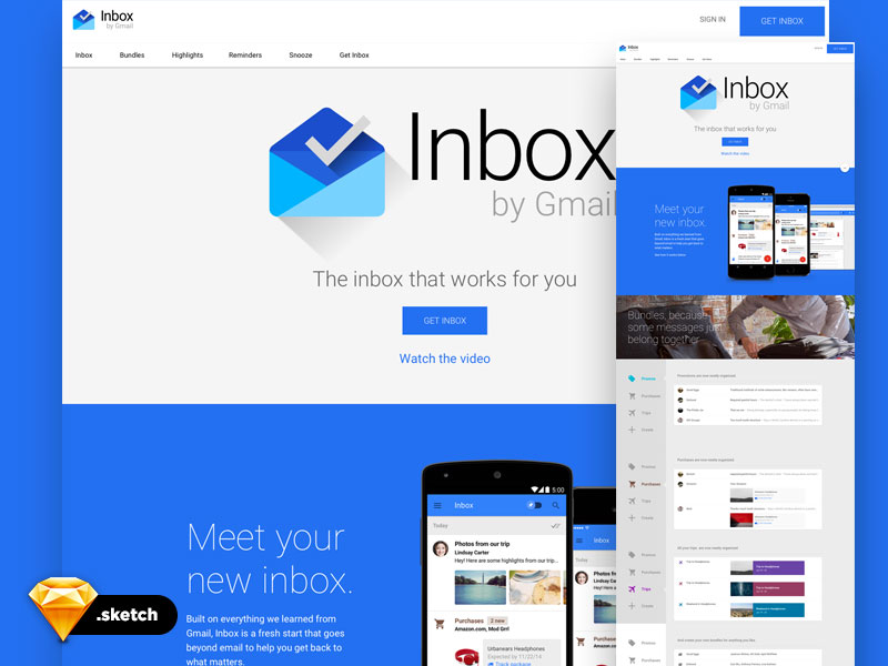 Google-Inbox-UI-Kit-Free-Sketch-Template