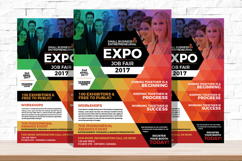 Professional-Expo-Job-Fair-Flyer-Template-Design
