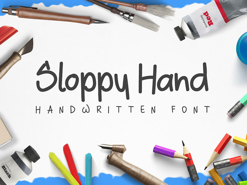Sloppy-Hand-Free-Handwritten-Font