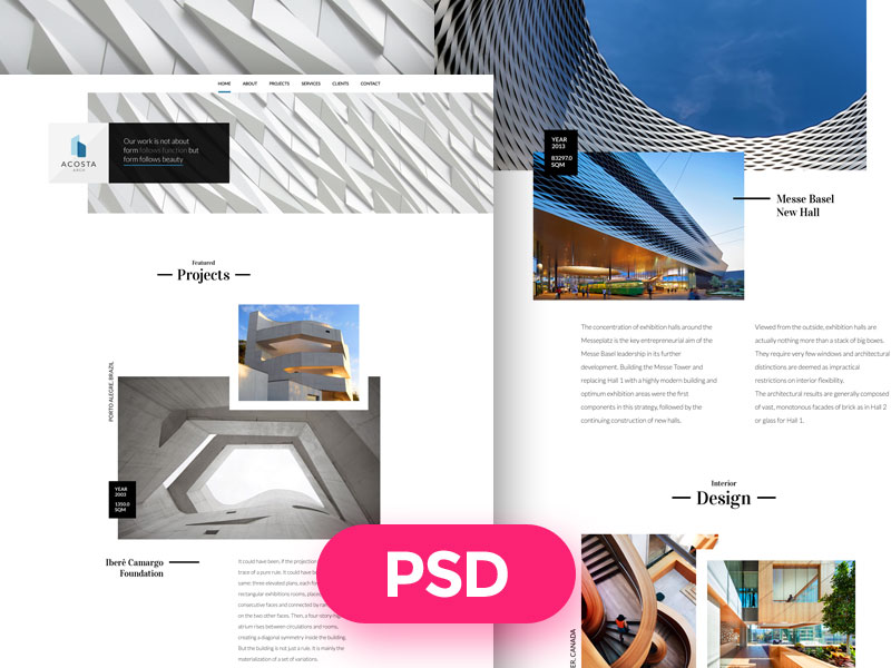 Architecture-Free-PSD-Template