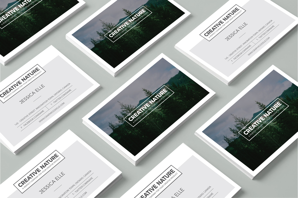 Free creative nature artists business card design template accmission
