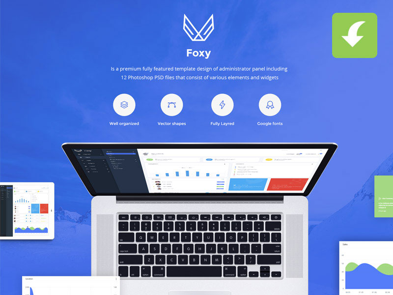 Foxy-Free-Admin-Panel-Dashboard-UI-Kit-PSD