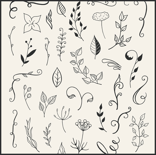 Free-110-Hand-Drawn-Floral-Elements-Ai-&-Psd-1