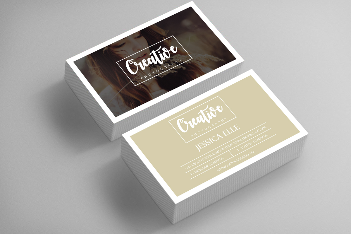 Free creative photography business card design template reheart Image collections