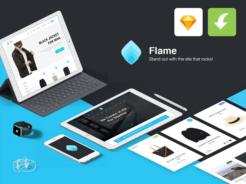Free-Flame-UI-Kit-for-Sketch-App
