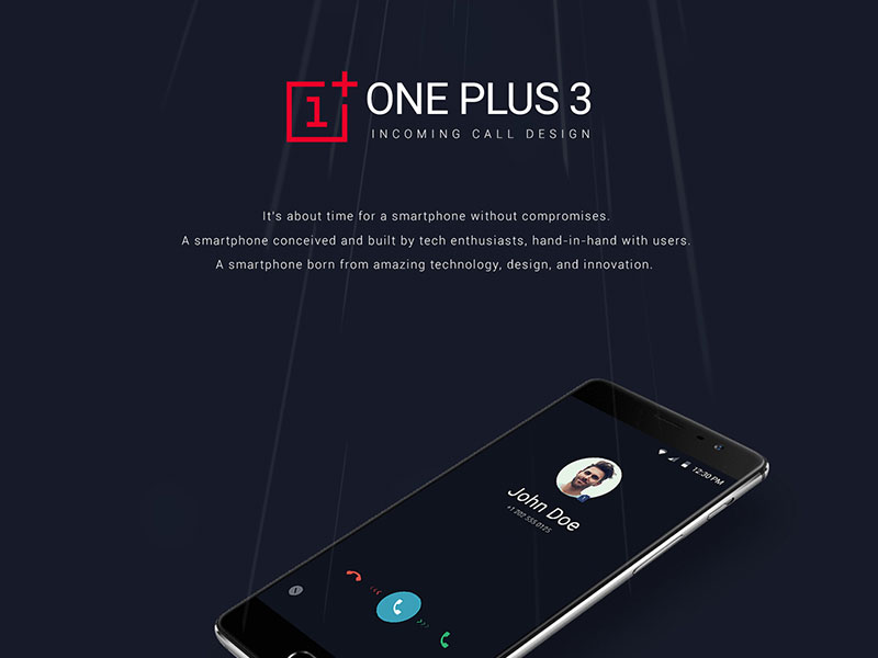 Free-ONEPLUS-3-Incoming-Call-Design-PSD