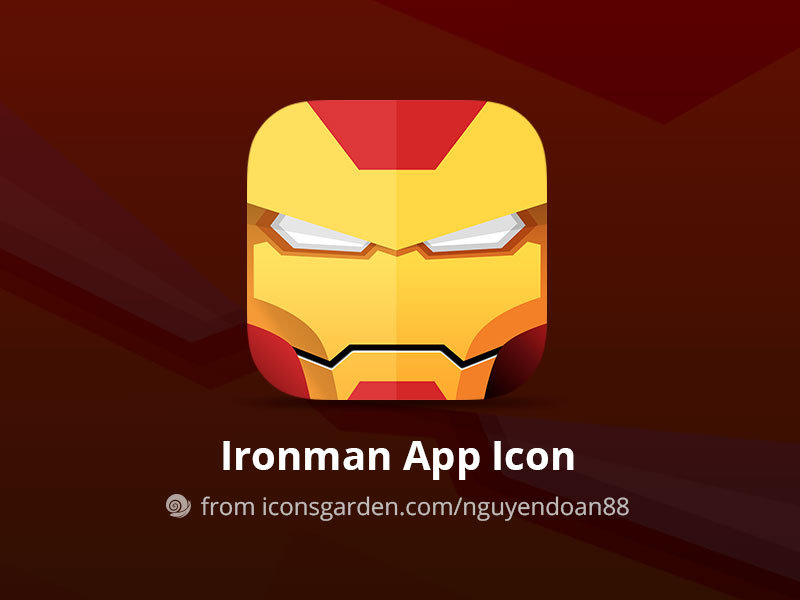 Free-PSD-Iron-Man-App-Icon