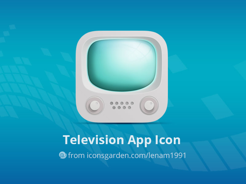 Free-PSD-Television-App-Icon
