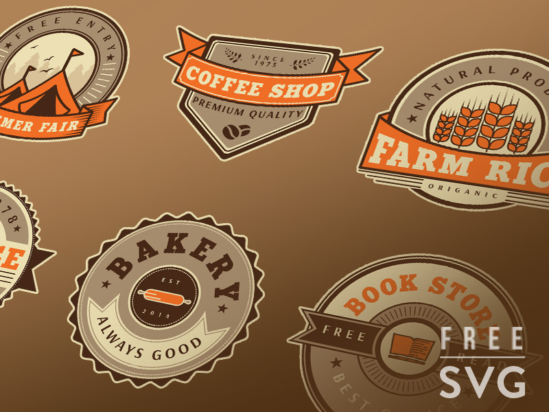 Free-Vintage-Badge-Set-Vector-Templates