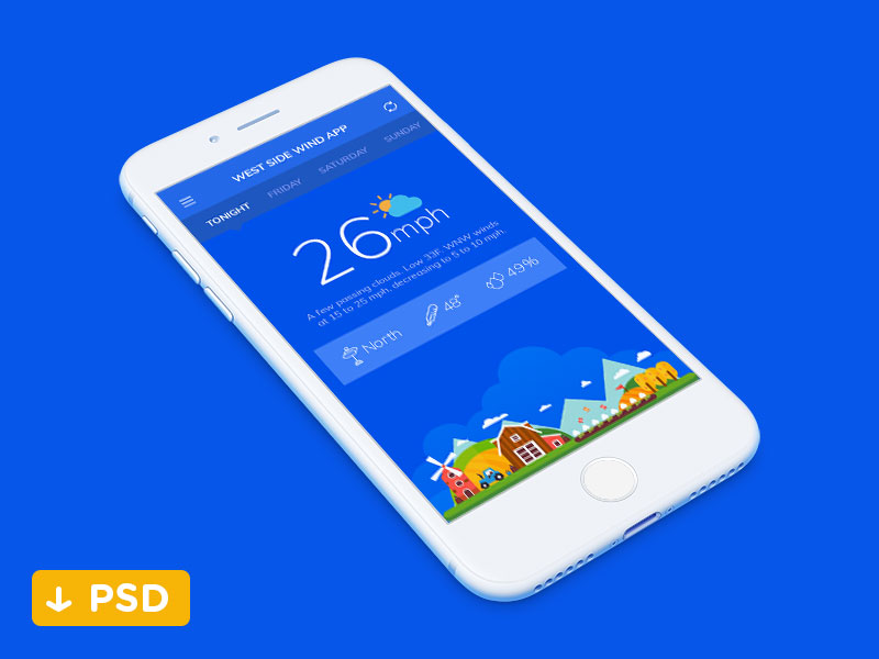 Free-Weather-App-Psd-File
