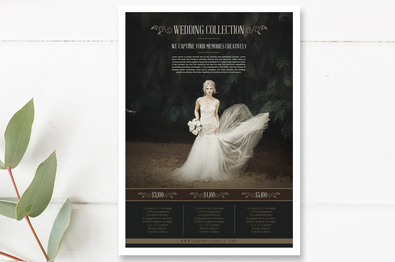 Free Wedding Photography Price List Flyer Templates - Free pricing template for photographers