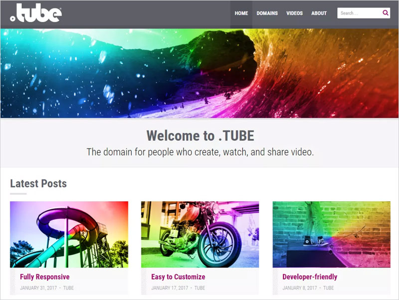TUBE-Free-WordPress-Theme
