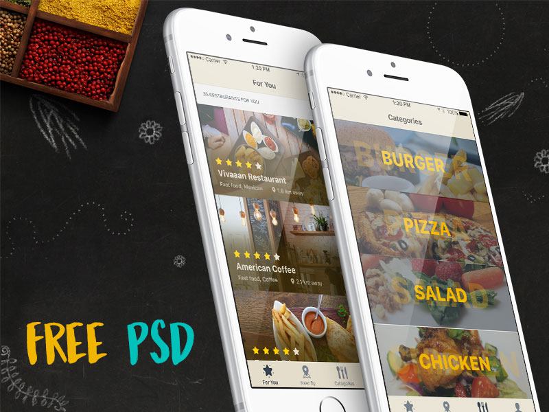 iOS-Restaurant-Finder-App-Free-Psd