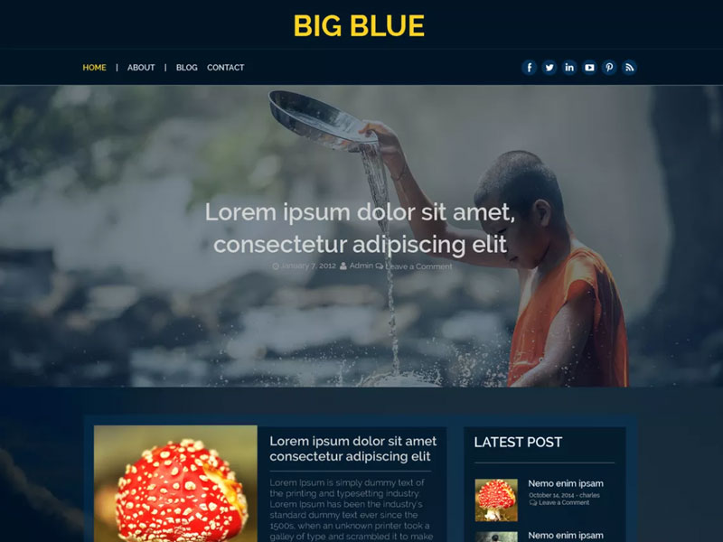 Big-Blue-Free-Classic-Blogging-Free-WordPress-Theme
