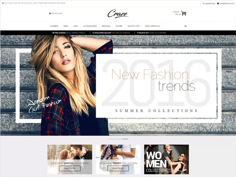 Craze-Free-WordPress-eCommerce-Theme