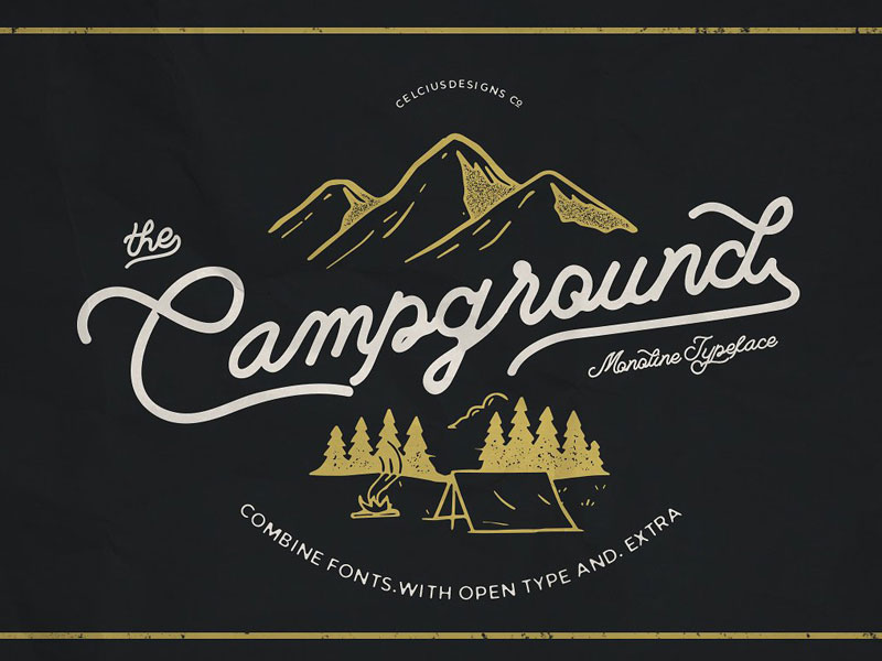 Free-Campground-Classy-Font