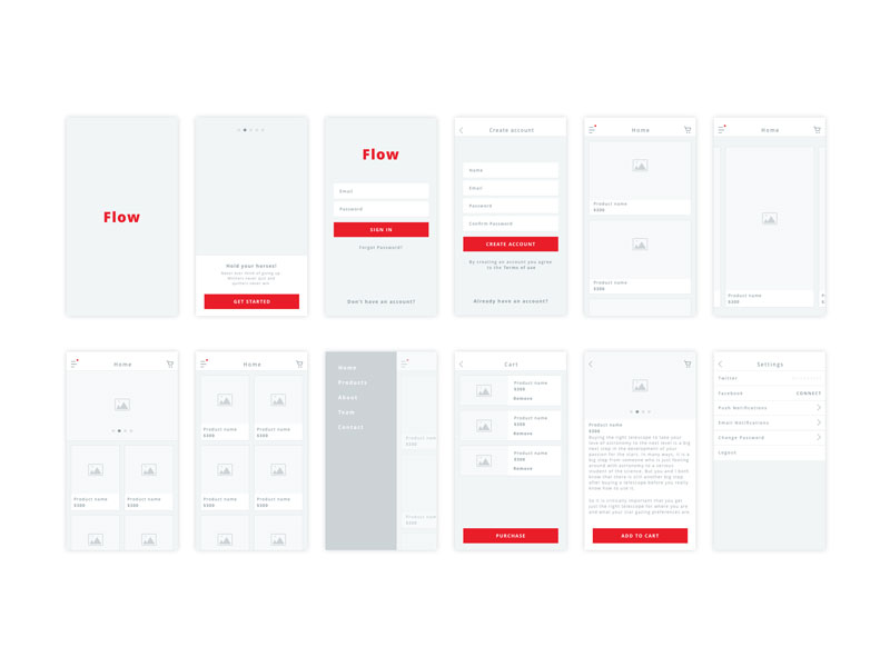 Free-Flow---iOS-Wireframe-Kit