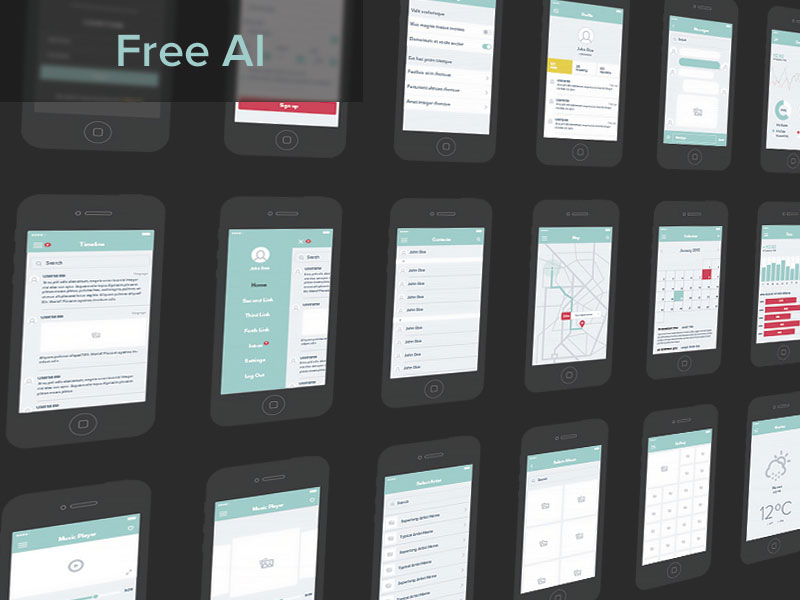 Free-UX-Wireframe-Set