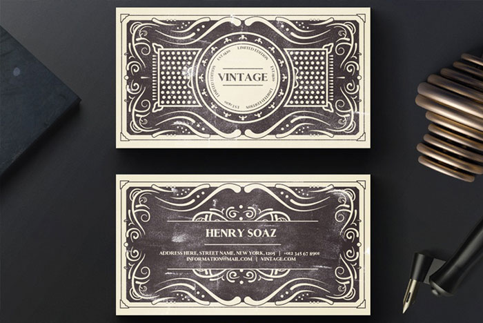 Free-Vintage-Business-Card-Template